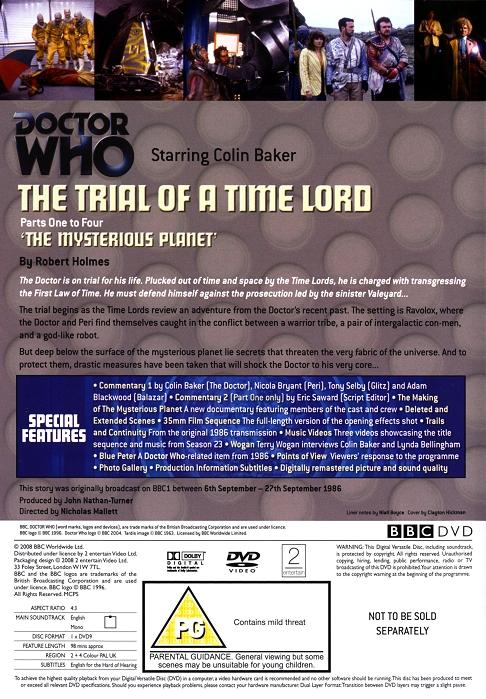 Doctor Who The Trial Of A Time Lord Mysterious Planet
